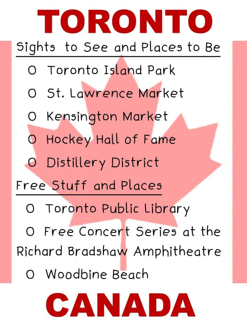 Canada Checklist