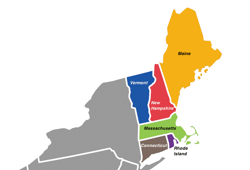 what states are in New England