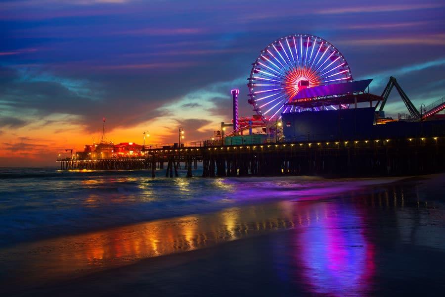 American beach - Santa Monica Beach