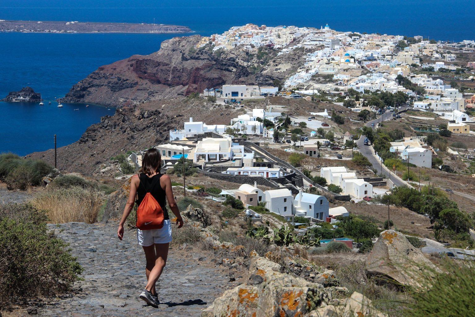 Traveling around Santorini On Foot