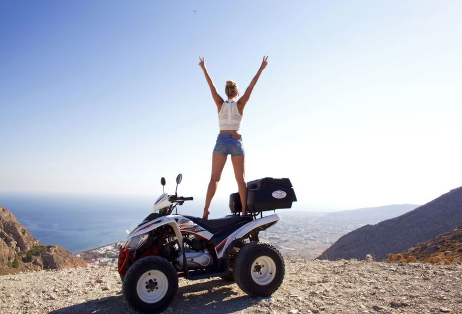 Traveling around Santorini with an ATV or Moped